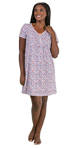 (Carole Hochman Women's Plus Size Floral Sleepshirt, Small, 2X)