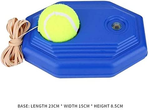 HQSC Tennisball, 1 Set, Tennis-Trainer, mit Ball, selbstlernend, Rebound-Ball, Baseboard, Training, Sport, Sparring-Gerät