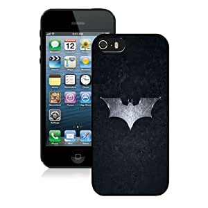 New Unique And Popular iPhone 5S Case Designed With Batman Logo Brushed Metal Black iPhone 5S Cover