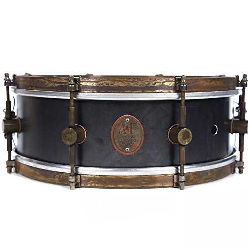 A&F Drum Co. 5x14 Raw Steel 8-Lug Snare