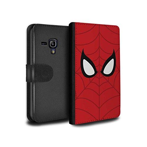 STUFF4 PU Leather Wallet Flip Case/Cover for Samsung Galaxy S3 Mini/Spider-Man Mask Inspired Design/Super Hero Comic Art - Galaxy S3 Case Spiderman Samsung