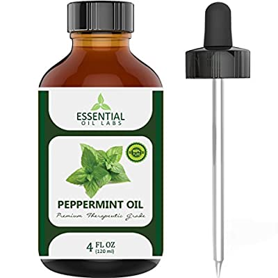 Essential Oil Labs Peppermint Oil with Dropper - 4 oz