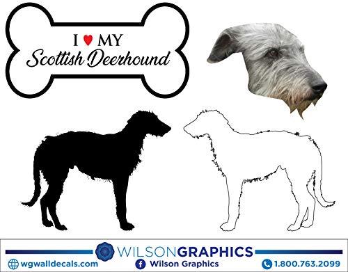 (Scottish Deerhound - Dog Breed Decals (Set of 16) - Sizes in Description)