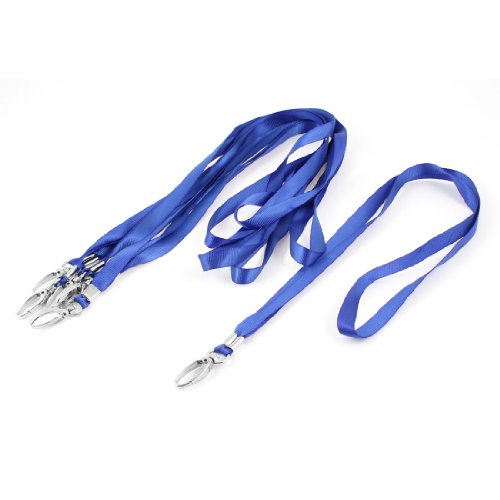 Uxcell Polyester Neck Holder Lanyard 18-Inch Length, 6 Pieces, Royal Blue
