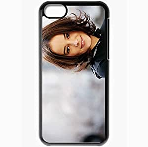 Personalized iPhone 5C Cell phone Case/Cover Skin Alizee Girl Smile Face Hair Black