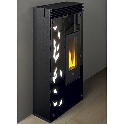 Evacalor Asia 901617000 - Estufa de pellets de 7,5 kW con iluminación LED, color negro: Amazon.es: Hogar