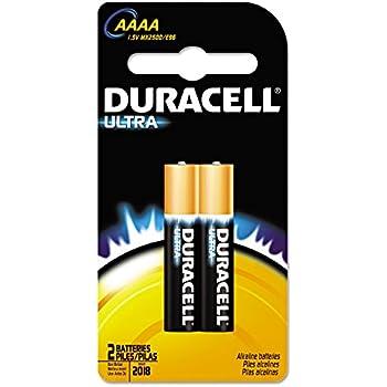 Duracell Ultra Power Alkaline Batteries w/ Duralock Power Preserve Technology, AAAA, 2/Pk