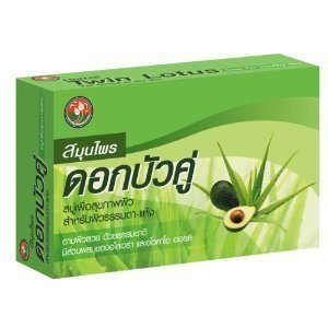 Twin-Lotus-Herbal-Bar-Soap-with-Aloe-Vera-Avocado-Oil-for-Normal-to-Dry-Skin-Qty-1Boxes