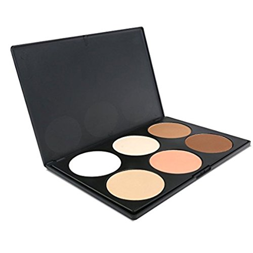 iMeasy Makeup Contour Kit Highlight and Bronzing Powder Palette - 6 Colors