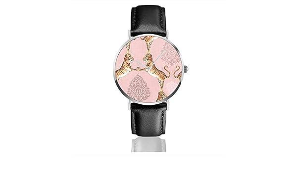 Reloj de Pulsera de Cuarzo con diseño de Gato Grande y Damasco Lrg ...