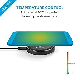 Anker Wireless Charger PowerPort Qi Wireless Charging Pad for Galaxy Note 5, S7/S7 edge/S6/S6 edge/S6 edge+, Nexus 4/5/6/7, Nokia Lumia 920, LG Optimus Vu2, HTC 8X/Droid DNA and More