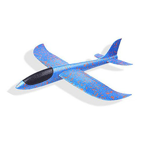 Epp Foam Plane - NiGHT LiONS TECH NiGHT LiONS TECH 13.78 inch stunts Roundabout/Flip Soft Foam throw glider air plane inertia aircraft toy hand launch airplane model outdoor sports flying toy for kids (blue)