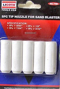 5 Pcs Tip Nozzle For Air Sand Blaster