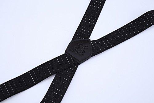 Classique Hommes Clips Elastiques Pour A180 Bretelles X Réglables Entièrement Forme Ahatech Avec 4 Vintage v7Aqn5w