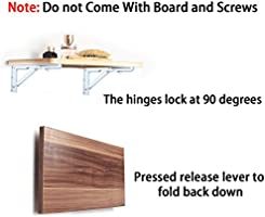 Escuadras de metal de Btsky, soportes plegables para estantes (2 ...