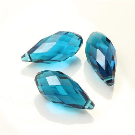 DIY Jewelry Making 100pcs 6x12mm Wholesale Drilled Austria Blue Teardrop Crystal Ab Beads Gemstone Loose Beads ()