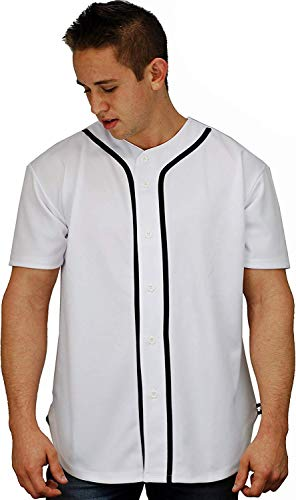 Eletina gown Mens Black and Grey Button Up , Baseball Jersey T Shirts Plain Button Down Sports Tee 303, Step Up Tee