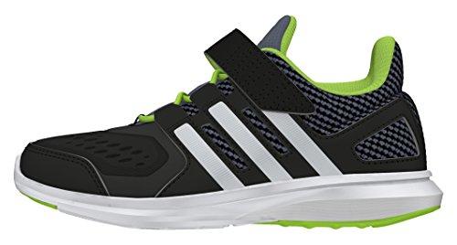 adidas Jungen Hyperfast 2.0 El K Laufschuhe Black (Negbas / Plamat / Seveso)