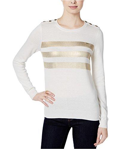Metallic Stripe Sweater - Tommy Hilfiger Womens Metallic Stripe Knit Sweater Ivy XL