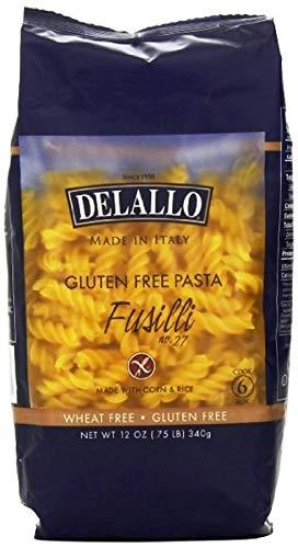 Delallo Pasta de Maíz y Arroz Tipo Fusilli Libre de Gluten, 340 g