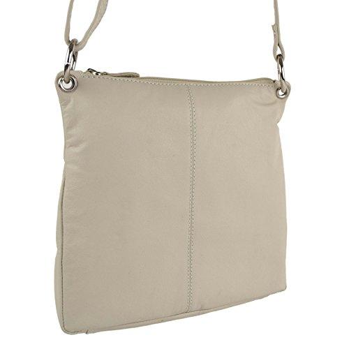 Ladies BAG Cream Cream Blousey LEATHER Soft Medium Handbag by Shoulder Brown Classic HnZHrwx