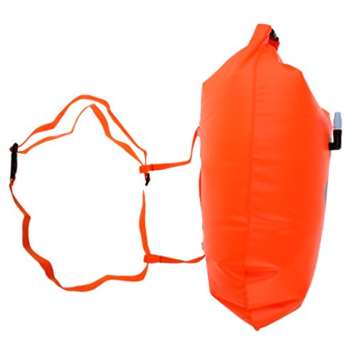Baosity Durable PVC Roll Top Dry Bag Swimming Tow Float + Waterproof Phone Case For Open Water Swimmers and Triathletes - Orange by Baosity (Image #2)