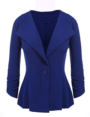 Women's Slim Business Blazer Blue - 1