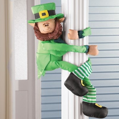 St. Patrick's Day Poseable Arm & Legs Leprechaun Decoration