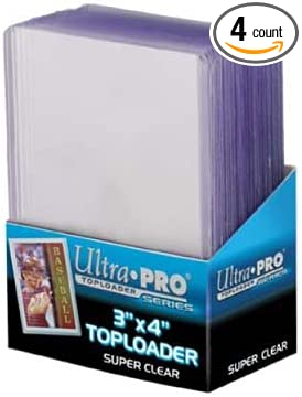 75 Ultra Pro Regular 3 x 4 Toploaders  3 packs New top loaders Toploader
