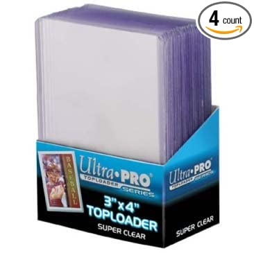 fc787d703ce Amazon.com   4 Ultra Pro Premium Top Loaders - 25 Toploaders Per Pack (100  Total) - Standard Size Baseball
