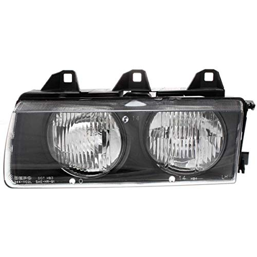 Headlight For 96-98 BMW 328i 92-95 325i Driver Side w/bulb (96 Bmw Headlights)