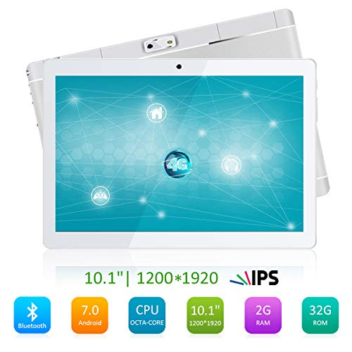 Kivors 10.1 inch 4G Octa Core Tablet A105, Android 7.0 Tablet PC with Dual...