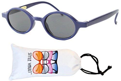 KD3040-vp Babies (0~12 months) Plastic oval Round Sunglasses (B3188F Navy blue-dark, - Old Navy Sunglasses