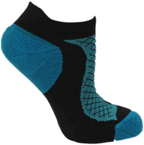 ASICS Women's Hera Deux Single Tab Sock, Medium, Smoked Pearl/Blue Atoll