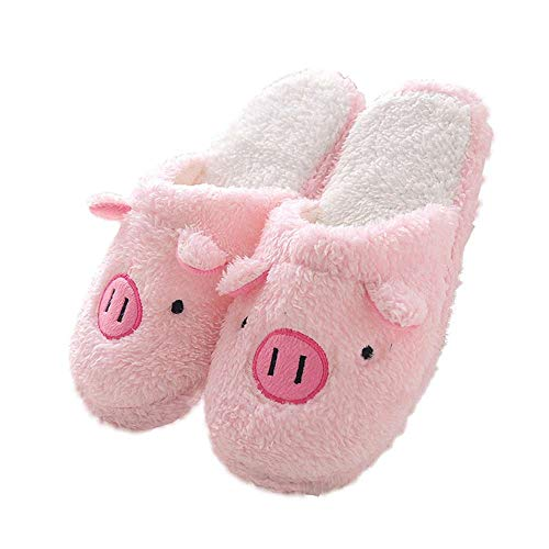 Womens House Slippers Fuzzy Animal Ladies Cute Bedroom Indoor Winter Slippers