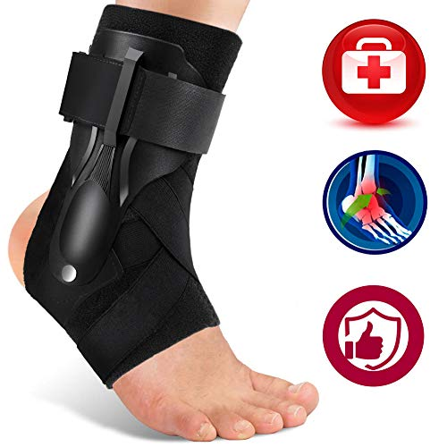 Ankle Support, Ankle Brace for Men & Women, Ankle Support Brace for Ankle Sprains, Sprained Ankle, Ankle Braces, Volleyball, Basketball, Ankle Supports for Women -XL