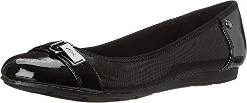Anne Klein Sport Women's Able Fabric Ballet Flat, Black, 8 M US