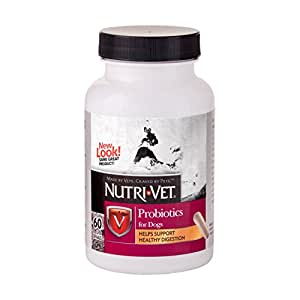 Nutri-Vet Probiotics Capsules, 60 Count