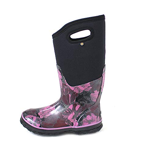72257 Tall Vintage Bogs Floral Neoprene Classic Black Multi Wellies Womens Wellington Boots Aanawfxgqz