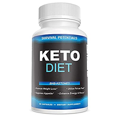 Keto Diet Pills - Exogenous Ketones 800mg Beta-Hydroxybutyrate BHB Keto Supplement for Weight Loss and Easy Transition Into Ketosis (1 Month Supply) by Survival Potentials
