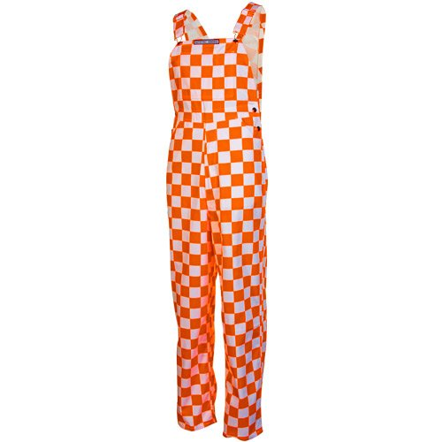 Game Bibs Checkered Orange/White Overalls (XX-Large)