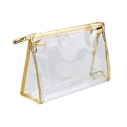 YING LAN Fashion Cosmetic Makeup Bags Transparent Handbag See-through Stroge Bag (Through Lan)