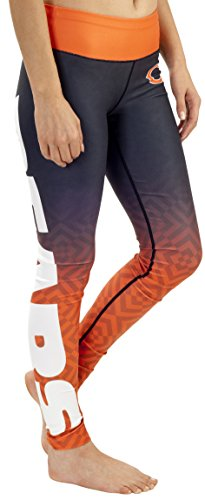 Lady Bears - Chicago Bears Gradient Print Legging - Womens Small