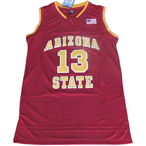 - Arizona Collegiate #13 Men's Classic Retro Embroidery Red Basketball Jersey - M