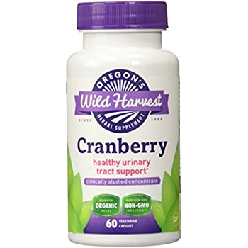 Oregon's wild Harvest organic Gluten free Cranberry healthy Urinary Tract Support 60 Non-GMO vegetarian Capsules