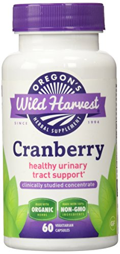 Oregon's wild Harvest organic Gluten free Cranberry healthy Urinary Tract Support 60 Non-GMO vegetarian Capsules