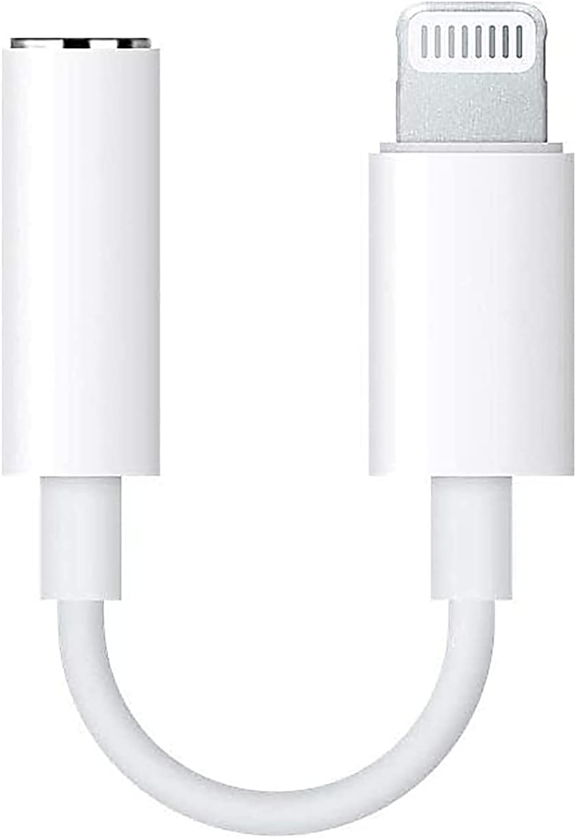 [Apple MFi Certified] Lightning to 3.5 mm Headphone Jack Adapter, iPhone 3.5mm Jack Aux Dongle Cable Converter Compatible with12/12 Pro/11/11 Pro/XS/XR/X/8/7/iPad iPod Support All iOS System (White)