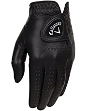 Callaway Golf 2017 Men's OptiColor Leather Glove, Black, Medium, Worn on Left Hand