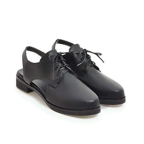 BalaMasa Womens Sandals Closed-Toe No-Closure Smooth Leather Urethane Sandals ASL04474 Black PbcW60b8f7