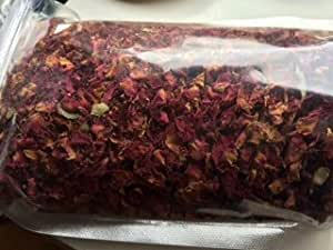 Kombucha Flavors: Organic ~ Dried Rose Petals ~ Use for tea or Flavoring Kombucha ~ 22g ~ Ravenz Roost Herbs with info card